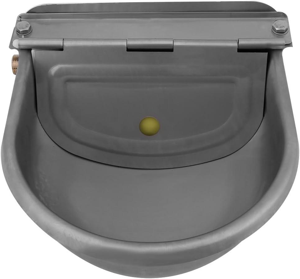 Alomejor Bebedero automático de Agua de Acero Inoxidable Bebedero para Caballos Cabras Ovejas Bovinos