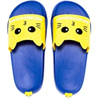 IUU Cute Little Kids Beach Sandals Bath Slippers Non-Slip Slippers Shock Proof Slippers (Pink, Blue)