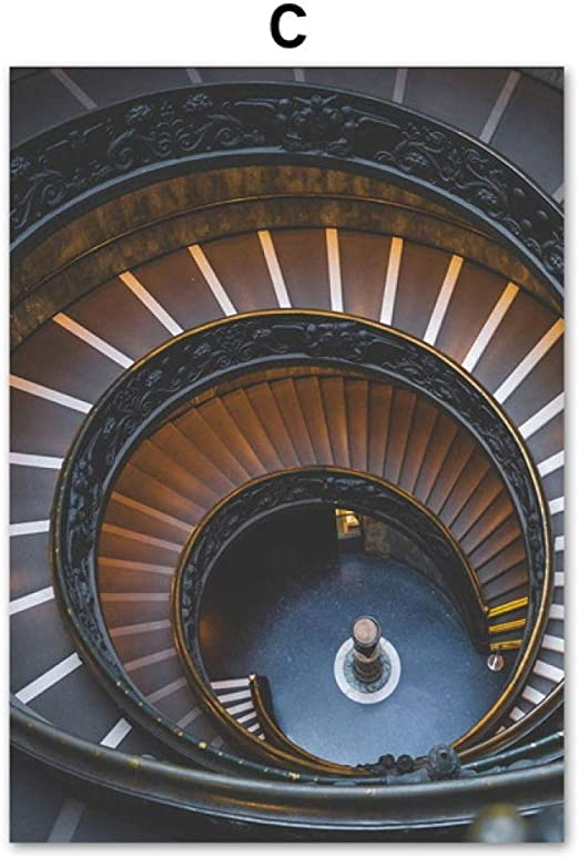 TYLPK Escalera de Caracol Arquitectura Paisaje Lienzo Pintura ...