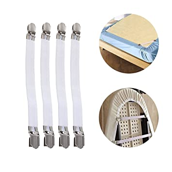 Bed Sheet Fasteners Grippers Suspenders/Ironing Board Cover Fasteners/ Bed Sheet Holders/Bed Sheet Strap Multipurpose Baking Tools & Accessories at amazon