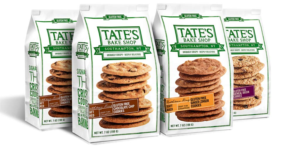 Tate's Bake Shop Thin & Crispy Cookies, Gluten Free Variety Pack, 7 Oz, 4Count by Tate's Bake Shop