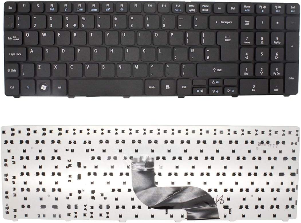 BRAND NEW FOR ACER ASPIRE 5740-5749 LAPTOP ENGLISH KEYBOARD UK LAYOUT BLACK COLOUR