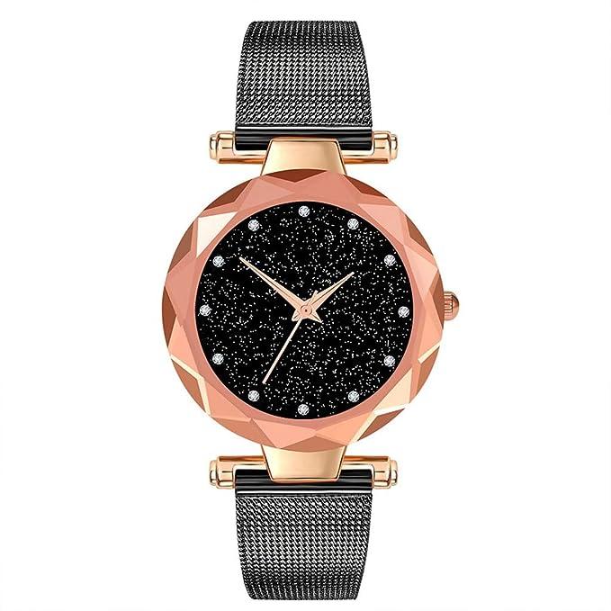 BBestseller Relojes Pulsera Mujer,Correa de Malla de Reloj de aleación Pulsera Cielo estrellad Impermeable Wristwatch (Plata): Amazon.es: Relojes