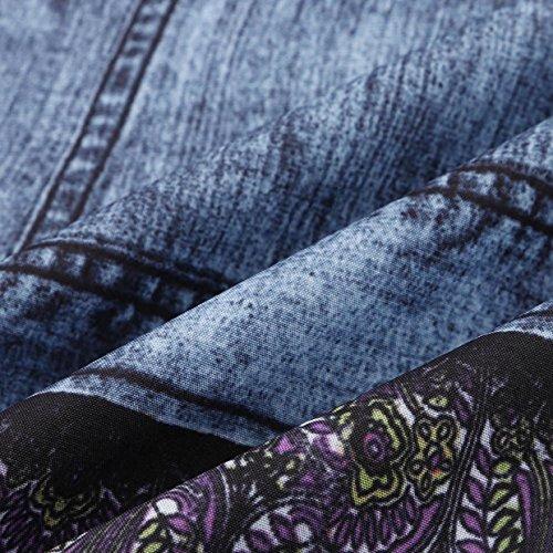 Corto Casual Falda Vestido Azul Vestidos Playa Cuello con Verano Vestido EUZeo Sexy de Floral Elegante Vestidos Largos Bohemian Estampado redond Mujer 2018 de Fiesta Fiesta Traje ngXgwHqSp