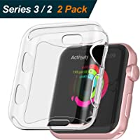 2 Pack BRG for Apple Watch Screen Protector and Case 38mm