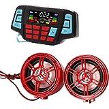 Motorcycle Audio Bluetooth,Handfree,System,FM Radio Stereo,Amplifier Speaker UTV,ATV, LED Speakers USB Audio System Stereo