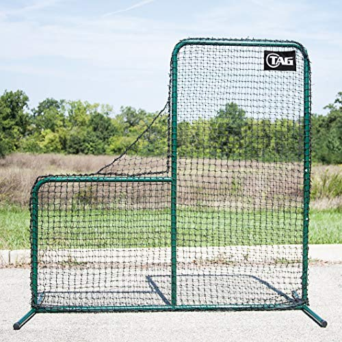 TAG TBPN605PRO L-Frame Pitcher Screen, 7 ft x 7 ft (Replacement Net -