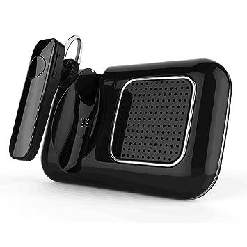 SZBAYO altavoz Manos Libres Bluetooth Coche Kit, auto encendido con sensor de movimiento,reducción