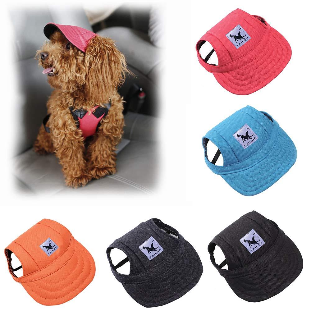 wanshenGyi Pet Cap, Classic, Practical, Fashion Solid Color Pet Supply Dog Outdoor Baseball Peaked Cap Puppy Visor Hat - Light Black S, Home, Travel. by wanshenGyi