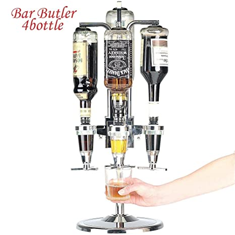 Bakaji - Botellero dosificador de mesa, dispensador para cerveza y bebidas alcohólicas, 4 plazas