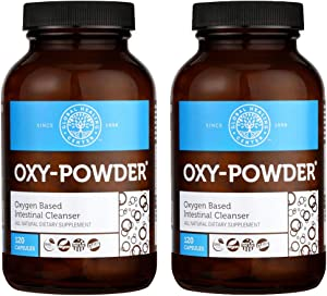 Global Healing Center Oxy-Powder Colon Cleanse Detox - Oxygen Based Safe and Natural Intestinal Cleanser 120 Capsule (2-Pack)