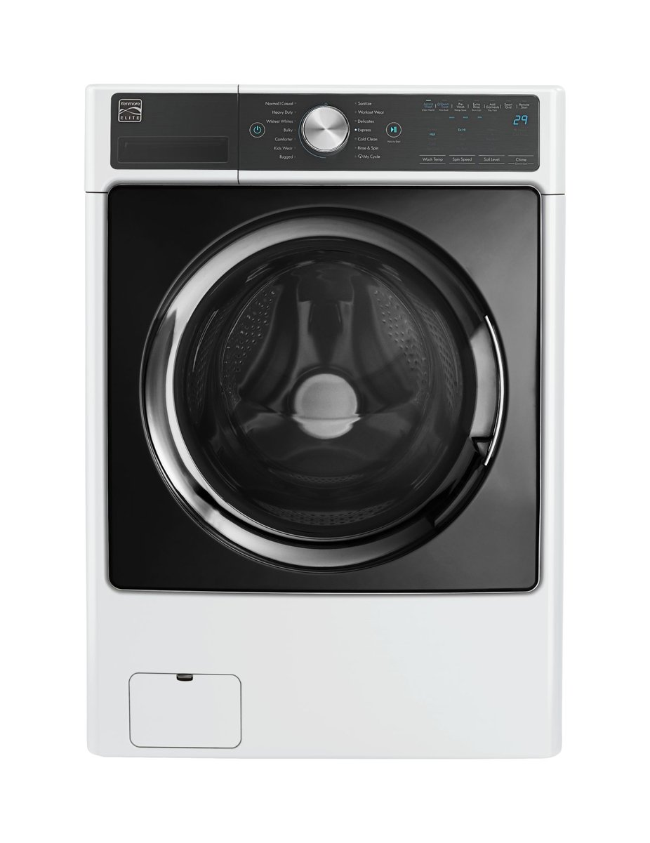 Kenmore Elite 41782 4.5 cu. ft. Smart Front-Load Washer with Accela Wash in White- Works with Alexa, includes delivery and hookup Sears - Home Improvement Small Appliances