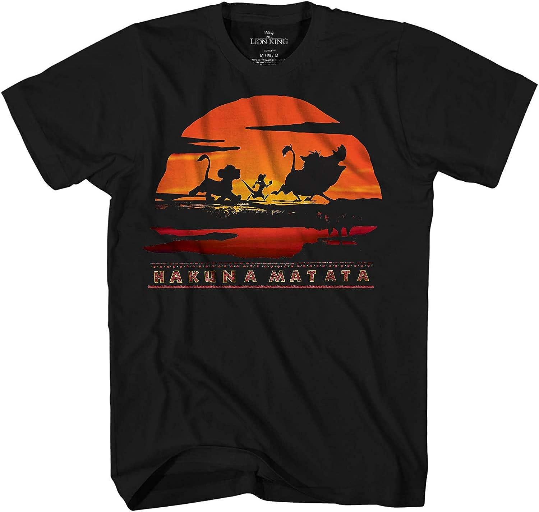 Lion King Hakuna Matata Pride Africa Simba Pumbaa Timon Disneyland World Adult Tee Graphic T-Shirt for Men Tshirt Apparel