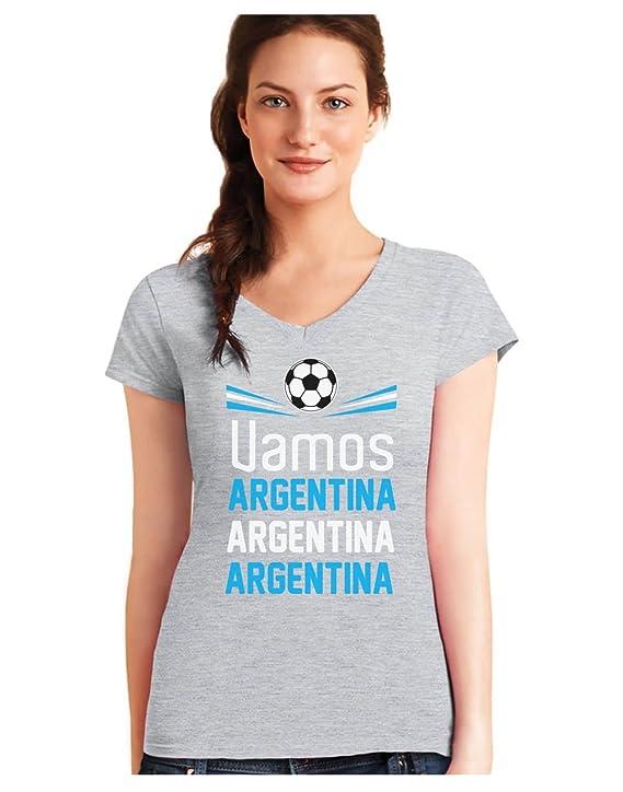 Green Turtle T-Shirts Camiseta de Cuello V para Mujer - Apoya a la Selección Argentina en el Mundial 2018!: Amazon.es: Ropa y accesorios