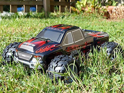 Remote Control Car, Distianert 1/18 Scale 4WD RC Car Electric Racing Car Off Road RC Monster Truck RTR Desert Buggy Vehicle 2.4Ghz 30MPH High Speed with 2 Rechargeable Batteries by Distianert (Image #4)
