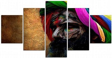 Xdxart 5 Immagini Decorative Per La Casa Stampate Pittura Su Tela Decorazione Arte Foulard Art Dipinti A Olio Immagini Stampate Senza Cornici In Legno 12x16x2p 12x24x2p 12x32inch Amazon It Casa E Cucina
