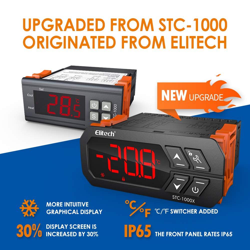 STC-1000X Digital Temperature Controller Thermostat with Sensor 50 ℃ ~ 99 ℃ Alarm Smart LED AC110V-220V