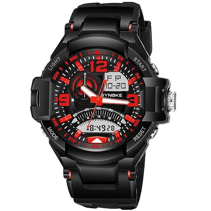 Amazon.com: LUCAMORE - Reloj analógico digital para hombre ...