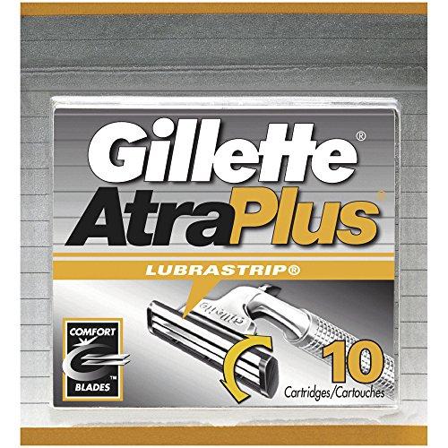 Gillette AltraPlus Men's Razor with Lubrastrip, 10 Count, Mens Razors / Blades