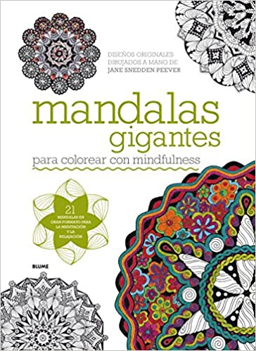 Mandalas gigantes: para colorear con mindfulness: Amazon.es: Jane ...