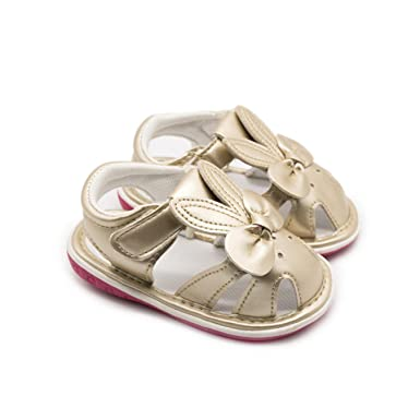 Amazon.com: Sandalias para bebé con lazo de flores, con ...