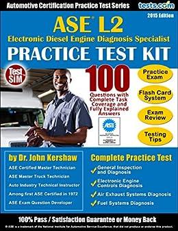 amazoncom ase l2 practice test kit automotive