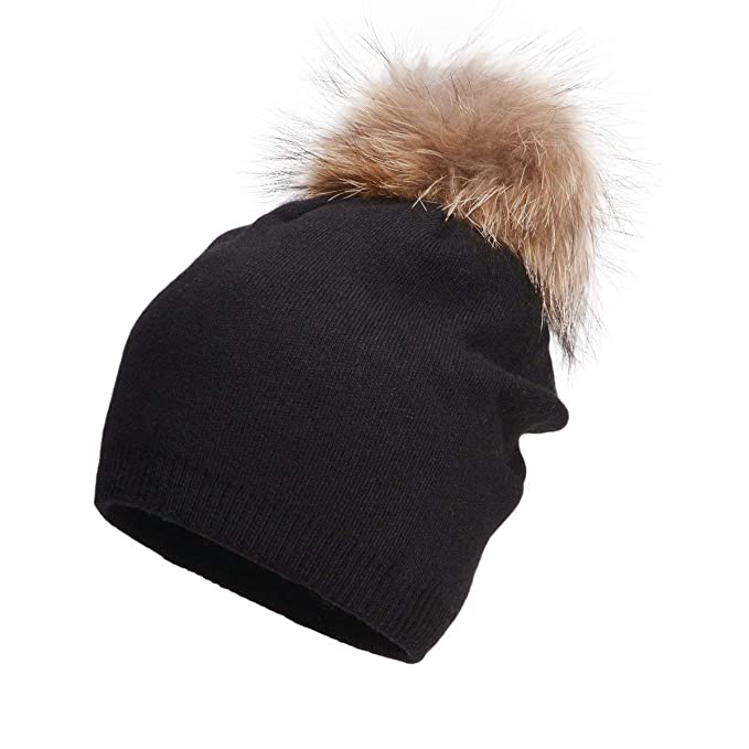 93020b92a06 ARNIYA Womens Winter Beanie Hat Cashmere Blend Knit Hats Snap-On ...