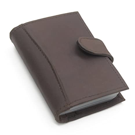fba1b3f29512 Image Unavailable. Image not available for. Colour  ELV Leather Brown Credit  Card Case Business ...