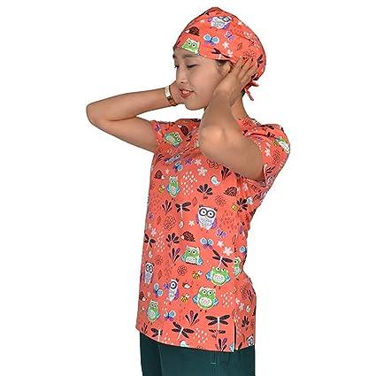 OPPP Ropa médica Impresión médica en Color Damas Ropa médica Ropa de algodón Uniforme quirúrgico médico