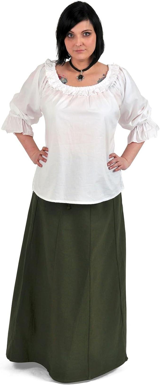 Ropa medieval - Falda larga Judith - verde - S/M: Amazon.es: Ropa ...