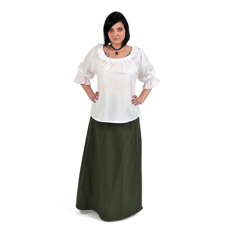 Ropa medieval - Falda larga Judith - verde - L/XL: Amazon.es: Ropa ...