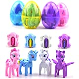 QINGQIU 4 Pack Jumbo Unicorn Deformation Easter Eggs with Toys Inside for Kids Boys Girls Easter Gifts Easter Basket Stuffers Fillers