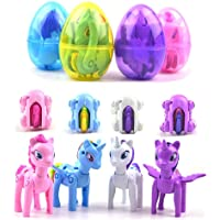 QingQiu 4 Pack Jumbo Unicorn Deformation Easter Eggs With Toys Inside For Kids Boys Girls