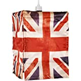 Abat-Jour Abat Jour Lustre Suspension UNION JACK, UK FLAG, Drapeau Britanique, Pour Douille (non fourni) de 28mm ou 42mm LONDON Rétro