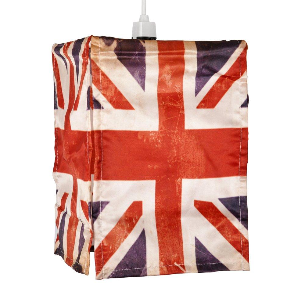 Abat-Jour Abat Jour Lustre Suspension UNION JACK, UK FLAG, Drapeau Britanique, Pour Douille (non fourni) de 28mm ou 42mm LONDON Ré tro Pour Douille (non fourni) de 28mm ou 42mm LONDON Rétro