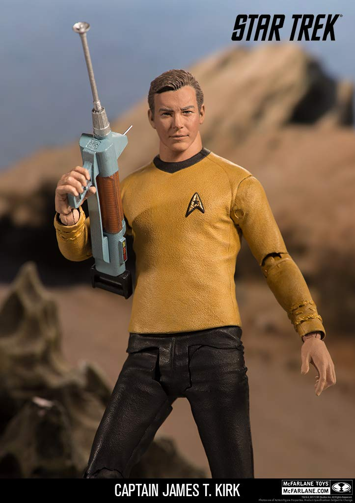 bb462aaab5270 Amazon.com: McFarlane Toys Star Trek Captain James T. Kirk Collectible  Action Figure: Toys & Games