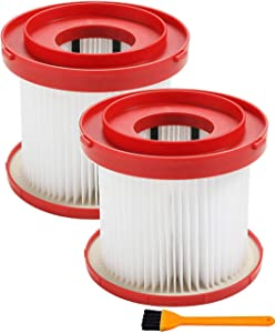 49-90-1900 Wet/Dry Filter Kit Replacement Compatible with Milwaukee Cordless Vacuum (Pack of 2)