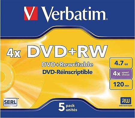 Verbatim Dvd Rw 4x Speed 4 7gb Jewel Case 5er Pack Computer Zubehör