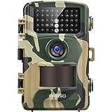 AKASO 14 MP Wildkamera Fotofalle 1080P Full HD Jagdkamera mit Nachtsicht IP66 Wasserdichte Überwachungskamera Gartenkamera 120°Weitwinkel mit 2.4 Zoll LCD- Loop-Aufnahme