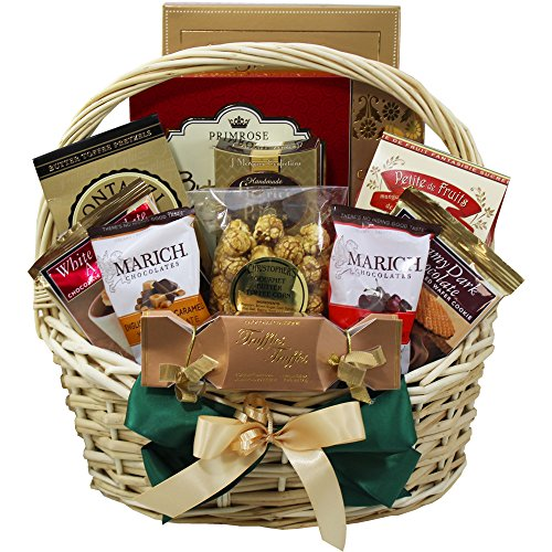 Sweet Sensations Cookie, Candy and Treats Gift Basket MEDIUM (Chocolate Option)