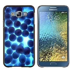 TECHCASE---Cubierta de la caja de protección para la piel dura ** Samsung Galaxy E7 E700 ** --Random Shine Azul