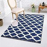 Reliable Trends Velvet Touch Chenille Carpet for Living Room Dining hall Floor (Blue)
