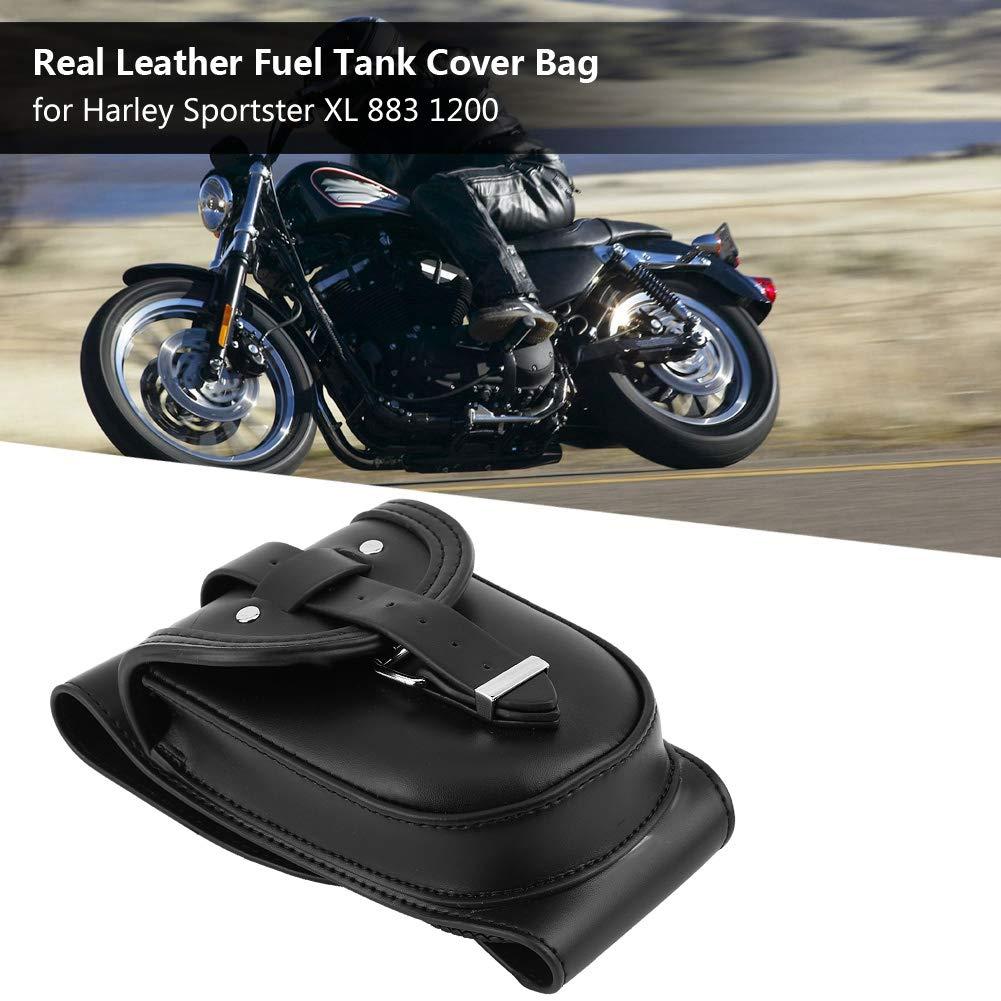aus echtem Leder wasserdichte Aufbewahrungstasche f/ür Tanks EBTOOLS Motorrad-Tank-Tasche