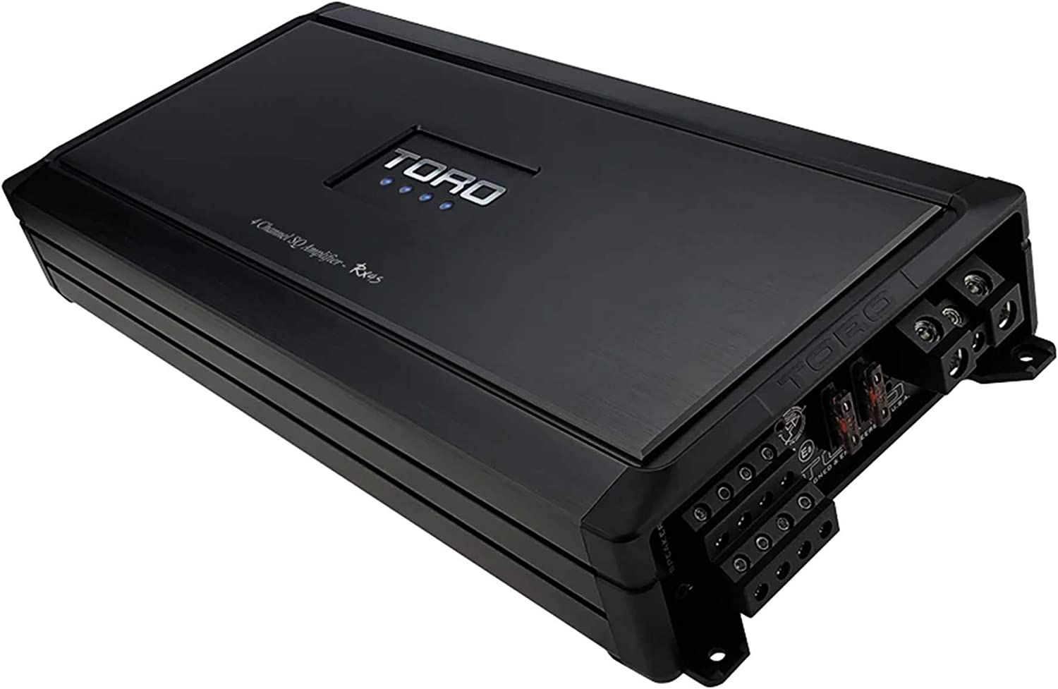 Auto Turn-On Sound Quality Class D Design 80 Watts x 4 RMS @ 4 Ohm // 130w x 4 RMS @ 2 Ohm Micro Sized Multi-Channel Car Amplifier Full Range Speaker or Subwoofer Amplifier TORO TECH MRx4