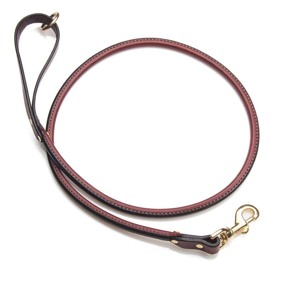 Mendota Products ME10472 Pet Leather Rolled Snap Lead Leash, 3/4'' x 6', Chestnut