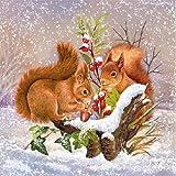 Ambiente Cena Tovaglioli / partito ca.33x33 Winter Stock - Christmas - Natale - Iverno - Perfetto Come Regalo e Decorazione Da Tavolo