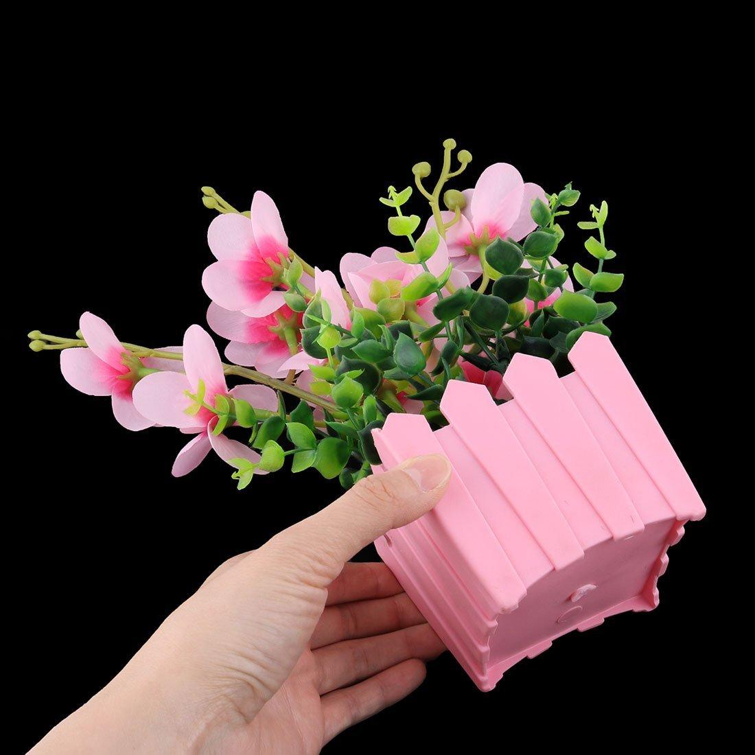 Amazon.com: eDealMax La Flor Artificial de la decoración de plástico Silla Reunión Maceta Oficina Sala de escritorio: Home & Kitchen