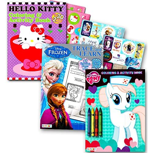 Hot Sale 2017 Coloring Books With Stickers Assortment Hello Kitty
