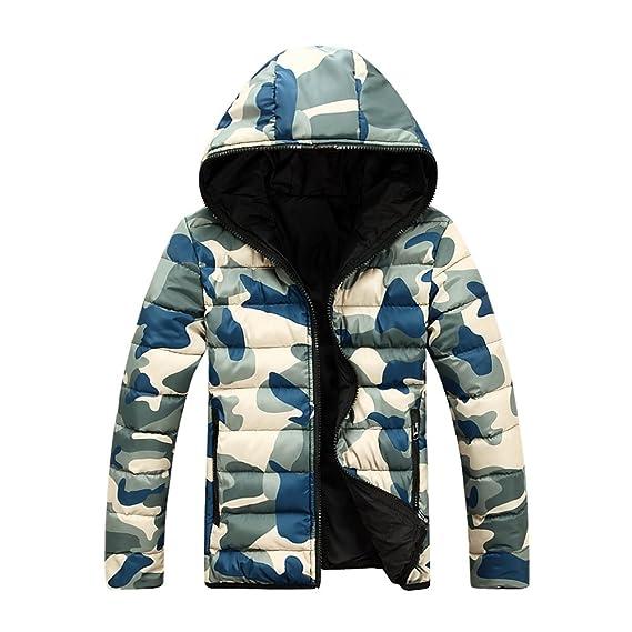 Yying Abrigos Hombre Chaqueta Camuflaje - Abrigo Otoño Outfit Cremallera Abrigos Calientes Chaqueta Acolchada Casual Diariamente Rojo Azul Verde M-4XL: ...