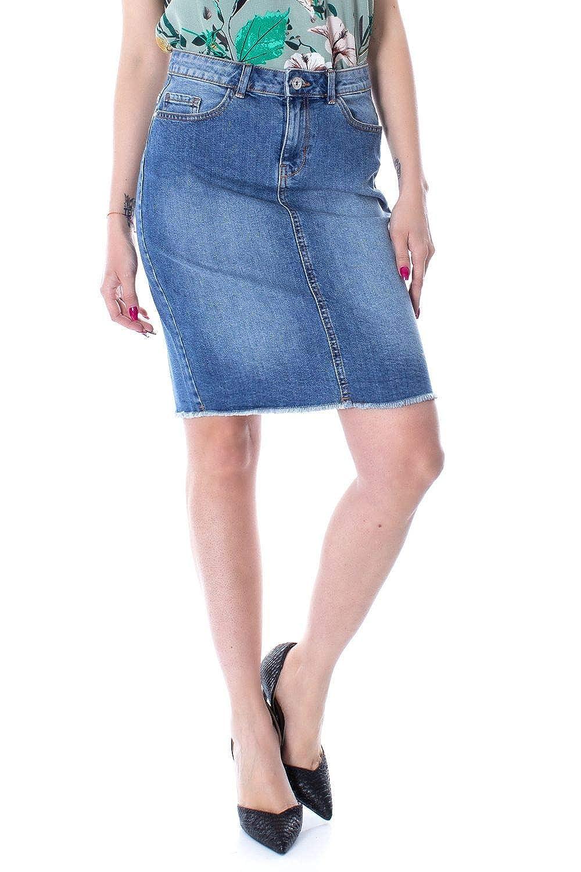 Only Luxury Fashion Mujer 15159611BLUE Azul Falda | Primavera ...